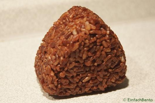 Onigiri aus rotem Reis